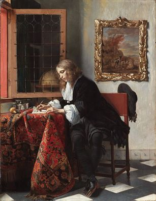 gabriel-metsu-writing